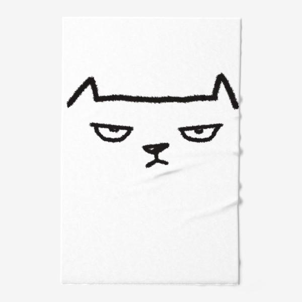 Полотенце «Кот недовольный»