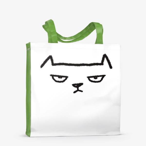 Сумка-шоппер «Кот недовольный»