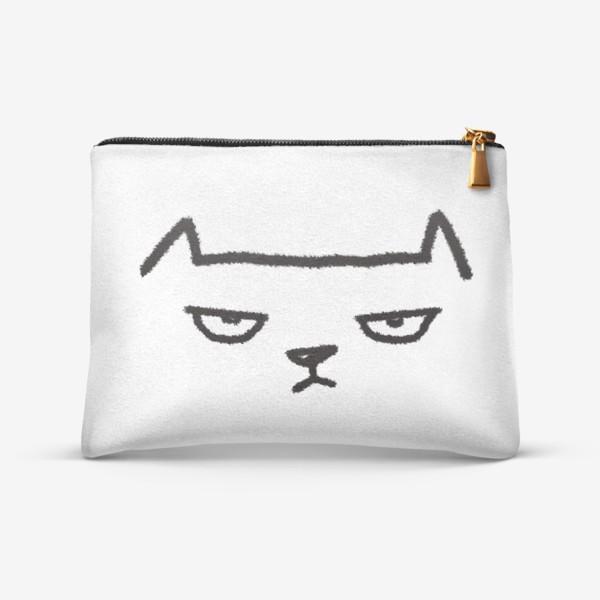 Косметичка «Кот недовольный»