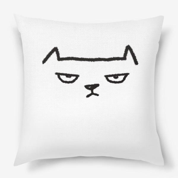 Подушка «Кот недовольный»