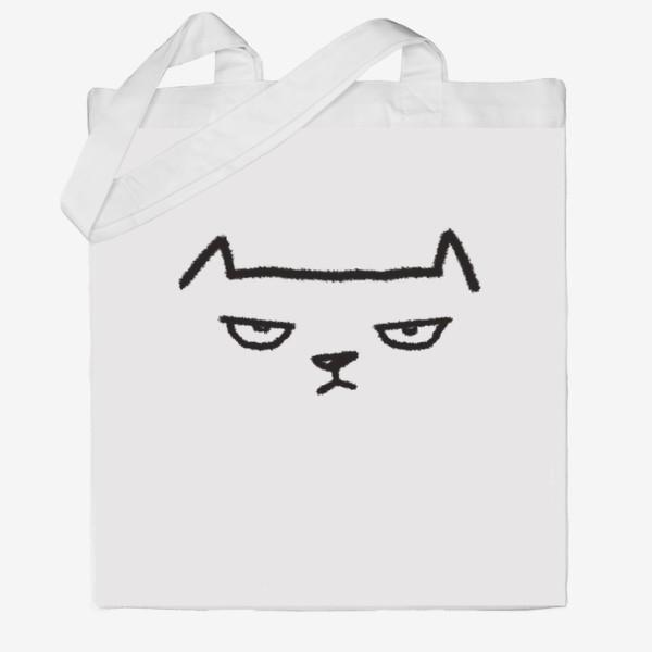 Сумка хб «Кот недовольный»