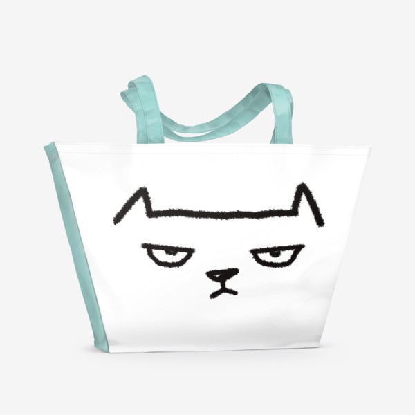 Пляжная сумка «Кот недовольный»