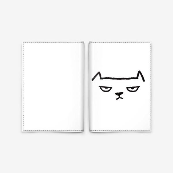 Обложка для паспорта «Кот недовольный»