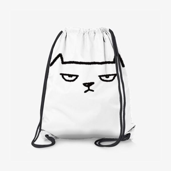 Рюкзак «Кот недовольный»