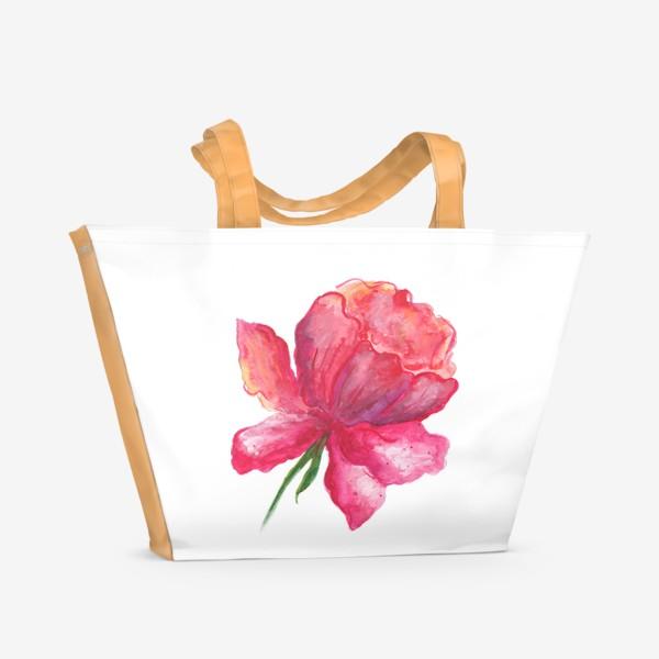 Пляжная сумка «Пион»