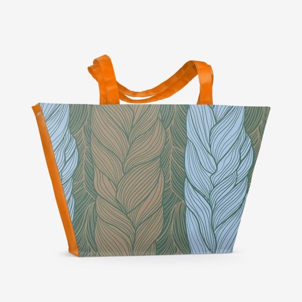 Пляжная сумка «Вязаный паттерн»