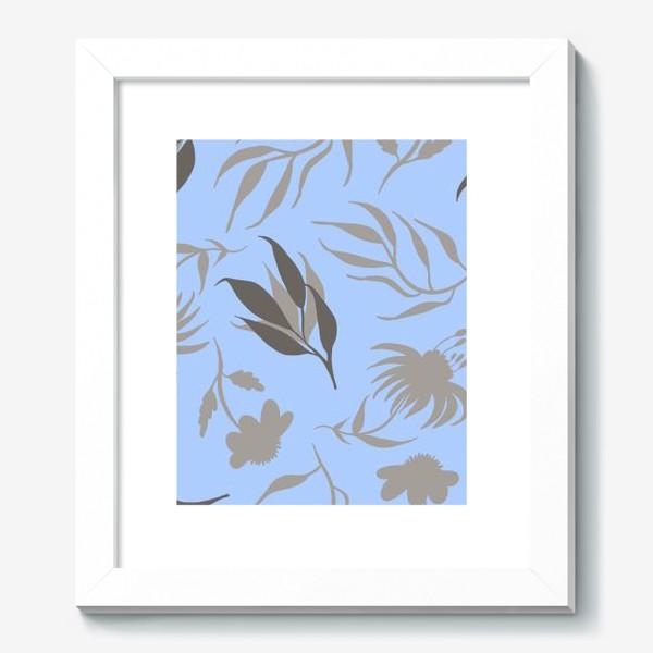 Картина «Серая ботаника на голубом»