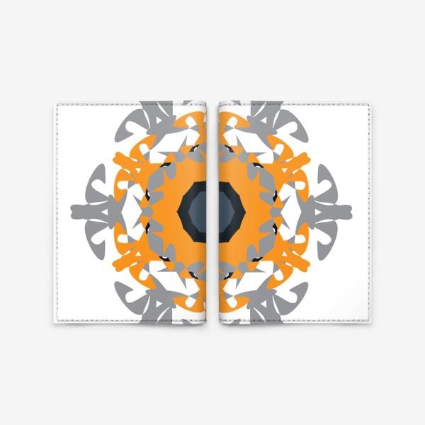 Обложка для паспорта «Орнамент оранжевый »