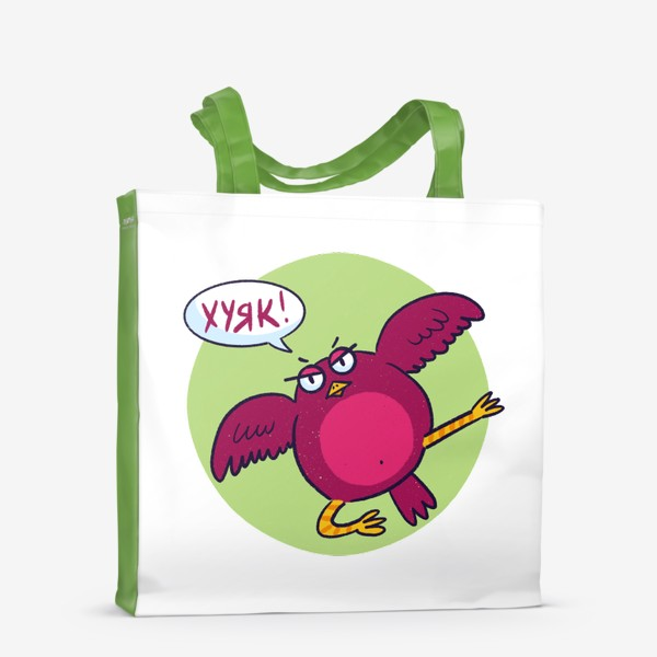 Сумка-шоппер «Дерзкая птичка»