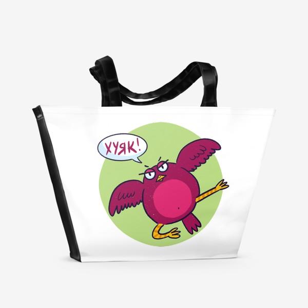 Пляжная сумка «Дерзкая птичка»