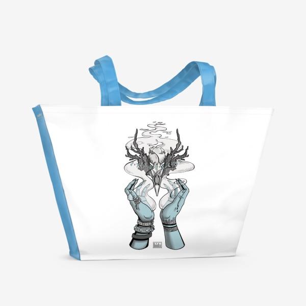 Пляжная сумка «Корона главной Ведьмы (из Дневник Ведьмы, 18-ая серия, 2-ой сезон) (в цвете)»