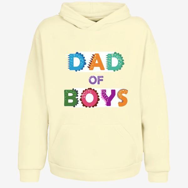 Худи «Папа мальчиков. Яркая надпись»