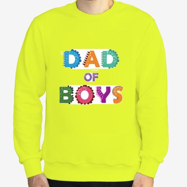 Свитшот «Папа мальчиков. Яркая надпись»