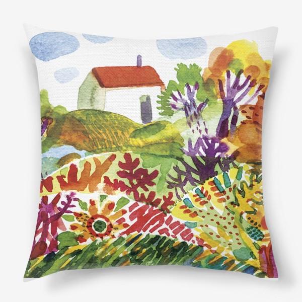 Подушка «Летний сад»