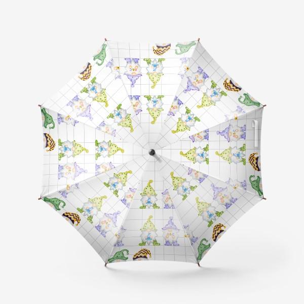 Зонт «Тетрадка Гномы в школе»