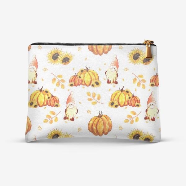 Косметичка «Осенние гномы с тыквами»