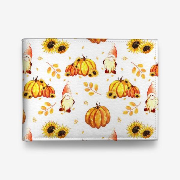 Кошелек «Осенние гномы с тыквами»