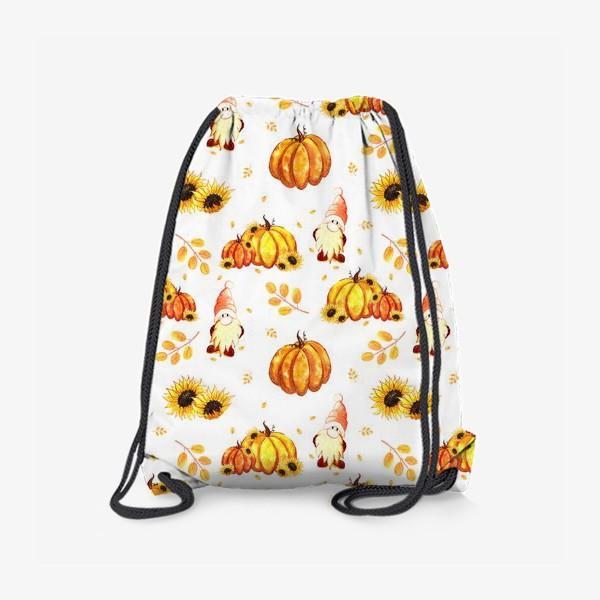 Рюкзак «Осенние гномы с тыквами»