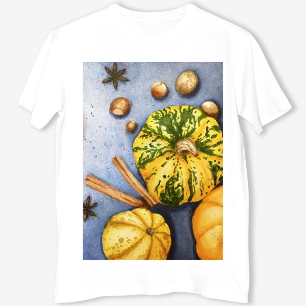 Футболка «Осенний натюрморт - тыквы»