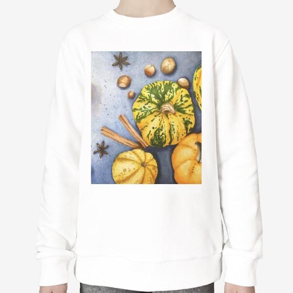 Свитшот «Осенний натюрморт - тыквы»