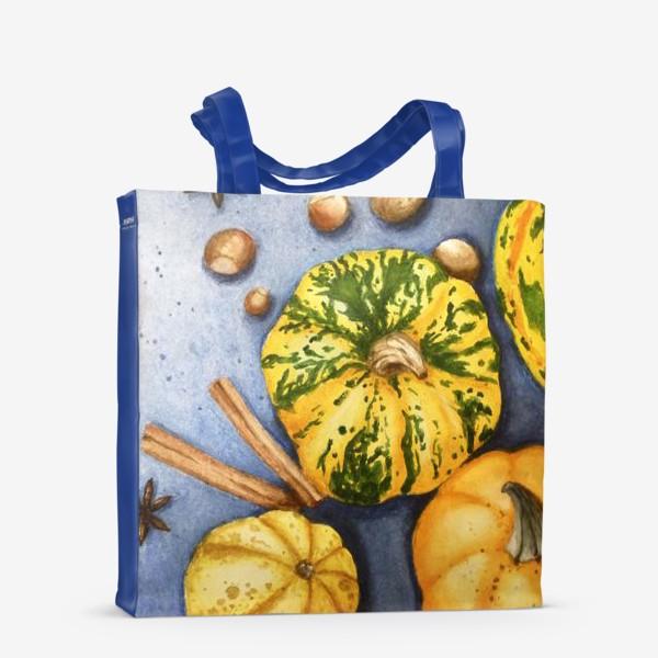 Сумка-шоппер «Осенний натюрморт - тыквы»