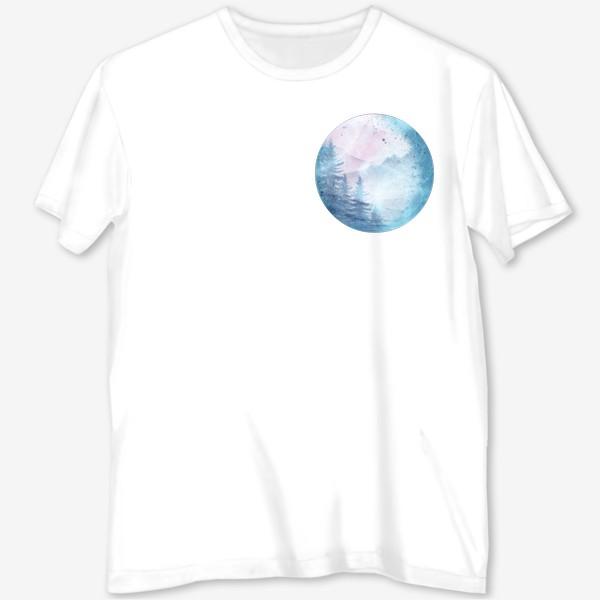 Футболка с полной запечаткой «Луна»