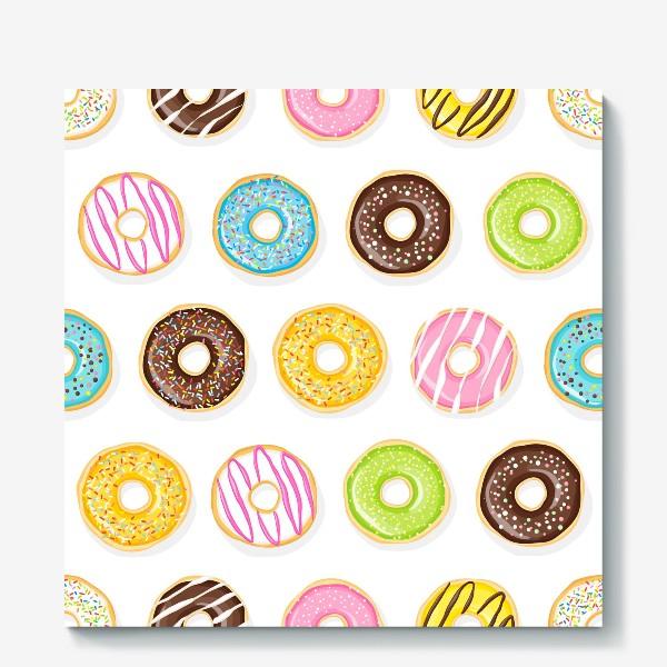 Холст «Аппетитные пончики»
