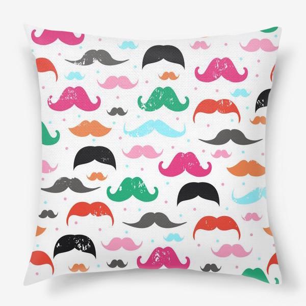 Подушка «Модные усы !»
