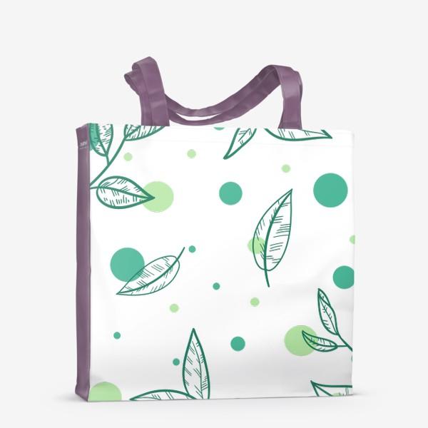 Сумка-шоппер «Зеленый чай»