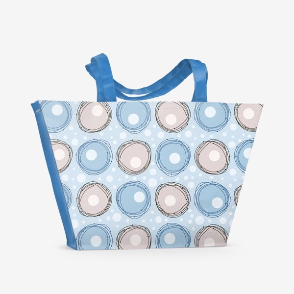Пляжная сумка «круги»