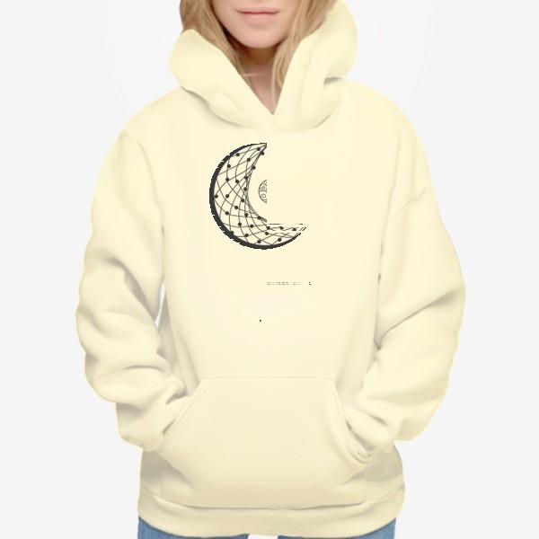 Худи «Луна ловец снов с подвеской и летящими перышками»