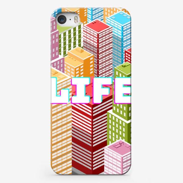 Чехол iPhone «LIFE/ЖИЗНЬ»