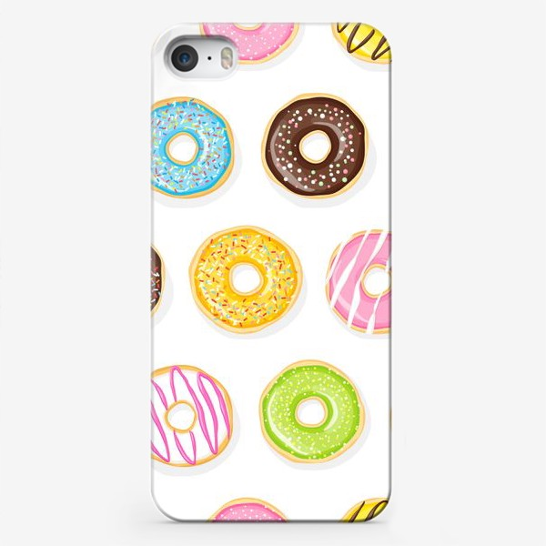 Чехол iPhone «Аппетитные пончики»