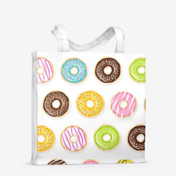 Сумка-шоппер «Аппетитные пончики»