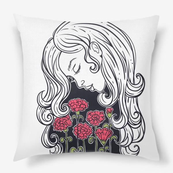 Подушка «Гвоздики»
