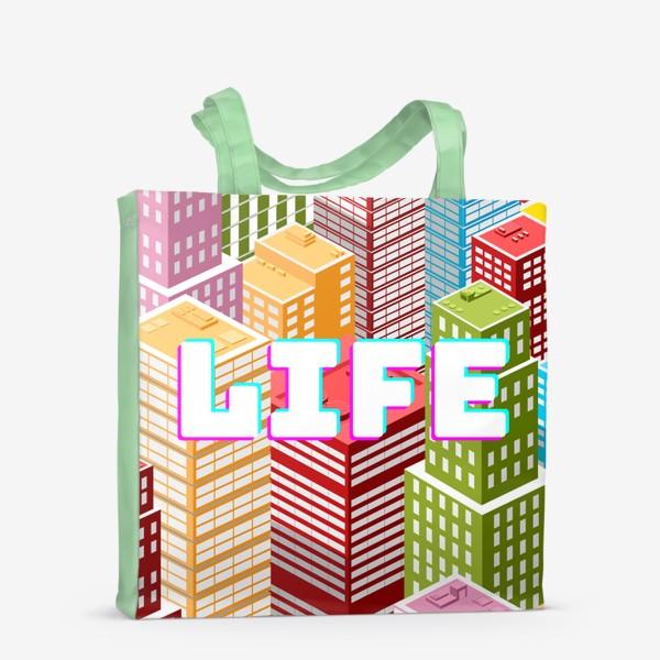Сумка-шоппер «LIFE/ЖИЗНЬ»