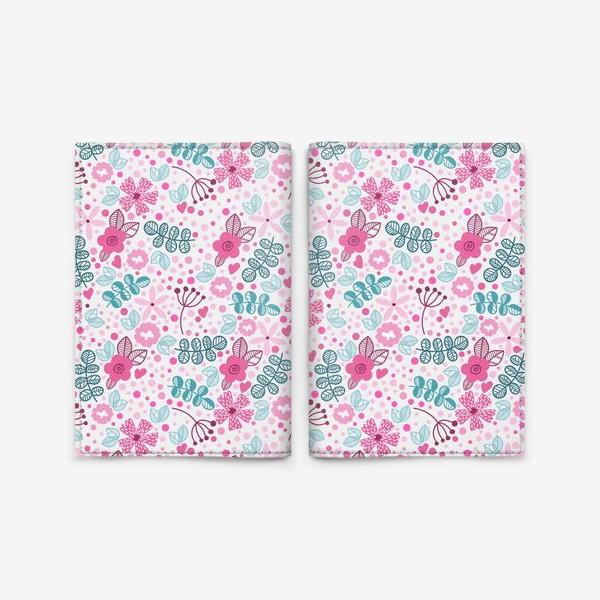 Обложка для паспорта «Абстрактные цветы»