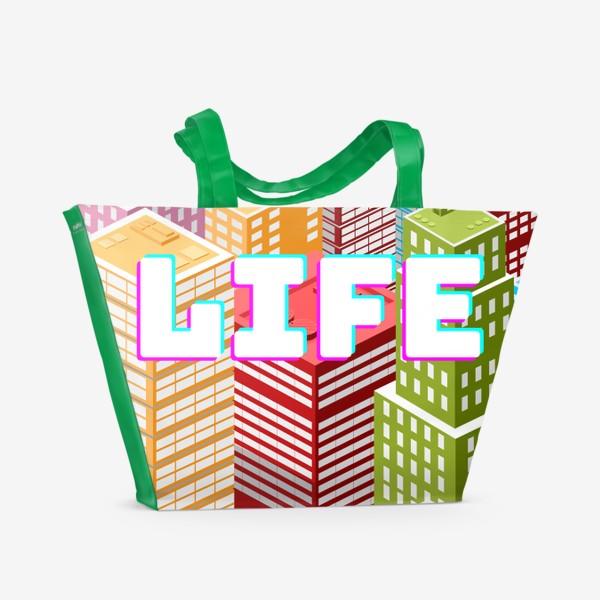 Пляжная сумка «LIFE/ЖИЗНЬ»