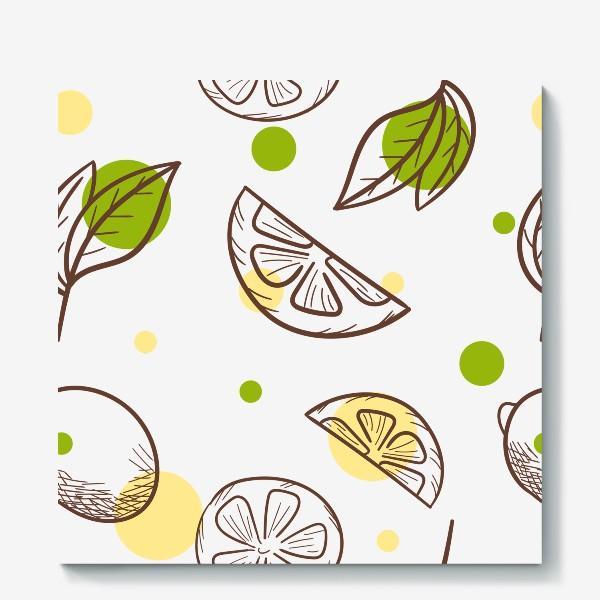 Холст «Чай с лимоном»