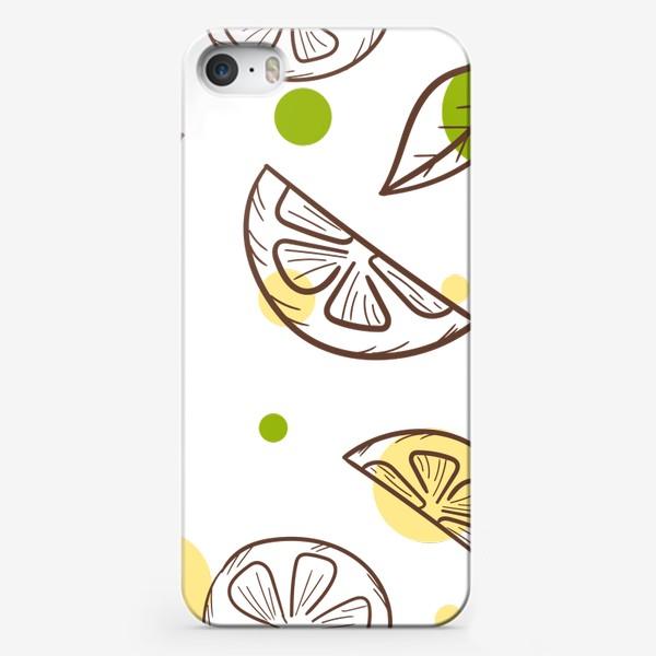 Чехол iPhone «Чай с лимоном»
