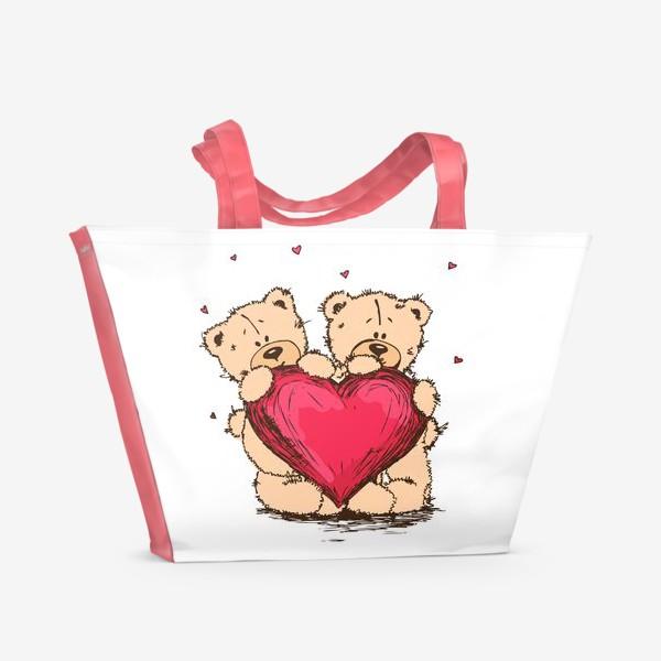 Пляжная сумка «Мишкина Любовь»