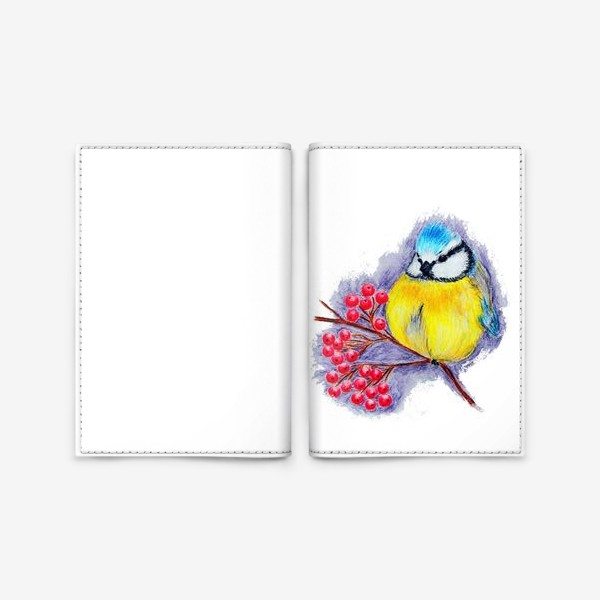 Обложка для паспорта «Синица»