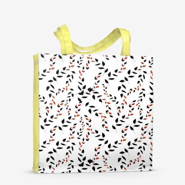 Сумка-шоппер «Плетенные листья лозы»