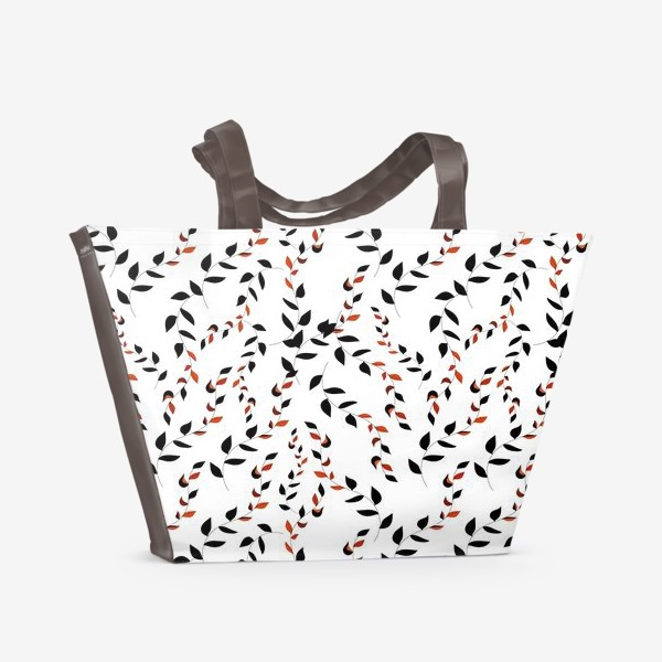 Пляжная сумка «Плетенные листья лозы»