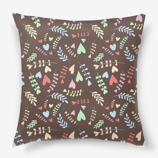Подушка «Разноцветные сердца»