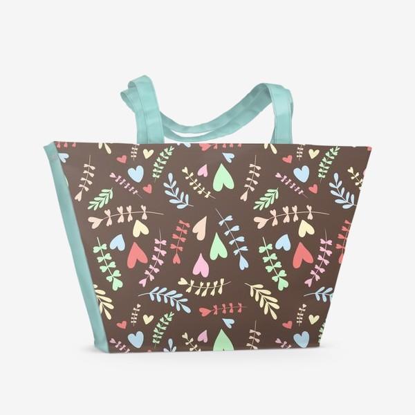 Пляжная сумка «Разноцветные сердца»