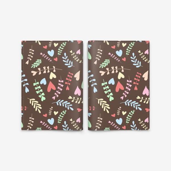 Обложка для паспорта «Разноцветные сердца»