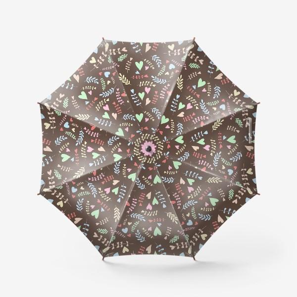 Зонт «Разноцветные сердца»
