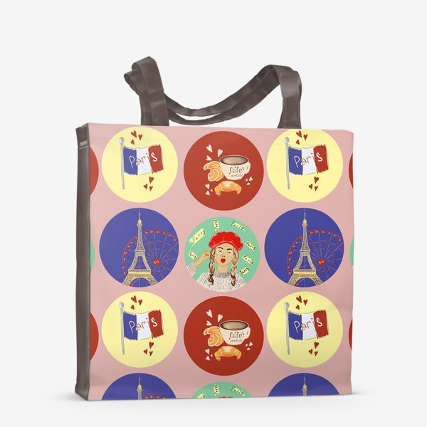 Сумка-шоппер «Франция, Париж, круассан»