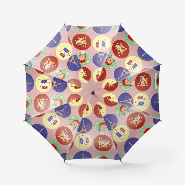 Зонт «Франция, Париж, круассан»